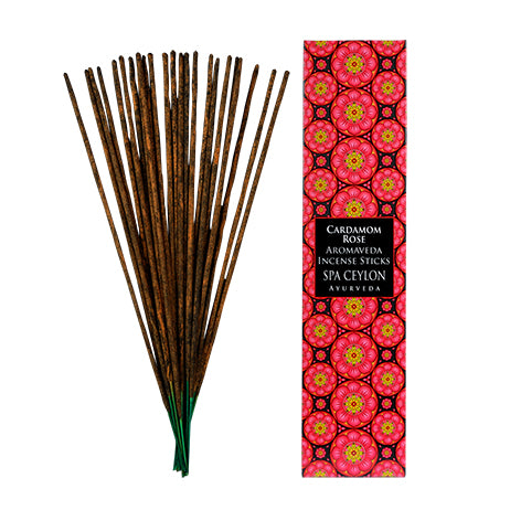 Cardamom Rose-Aromaveda Incense Sticks - SPA CEYLON Natural Luxury Ayurveda Home Aroma