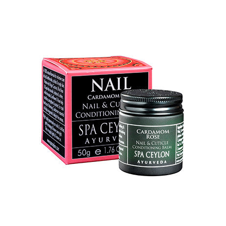 Cardamom Rose - Nail & Cuticle Conditioning Balm - SPA CEYLON Natural Luxury Ayurveda HAND THERAPY