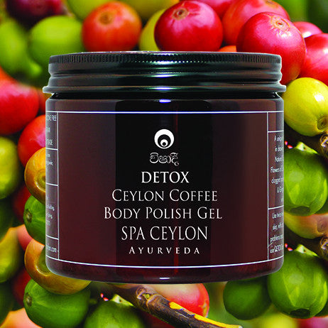 DETOX Ceylon Coffee-Body Polish Gel SPA CEYLON Natural Luxury Ayurveda