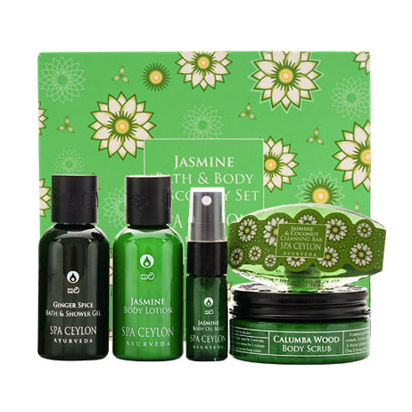 Jasmine Bath & Body Care Discovery Set - SPA CEYLON Natural Luxury Ayurveda GIFT SETS
