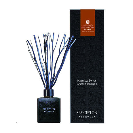 SANDALWOOD VETIVER - Natural Twigs Room Aromizer SPA CEYLON Natural Luxury Ayurveda