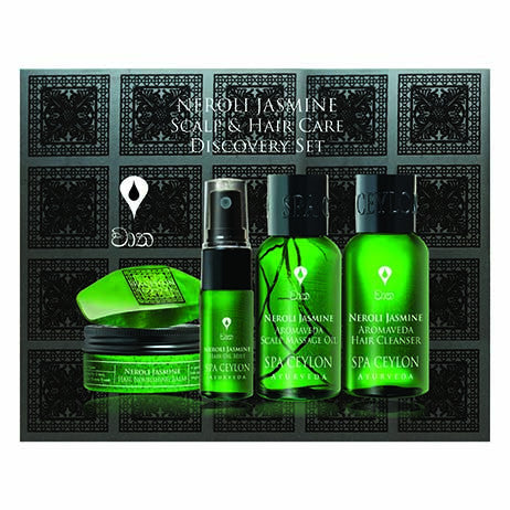 NEROLI JASMINE SCALP & HAIR CARE DISCOVERY SET SPA CEYLON Natural Luxury Ayurveda