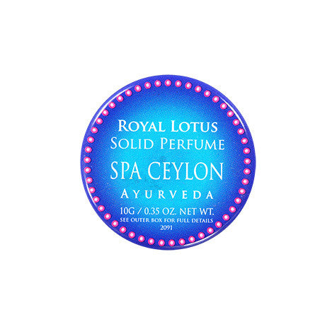 Royal Lotus Solid Perfume SPA CEYLON Natural Luxury Ayurveda