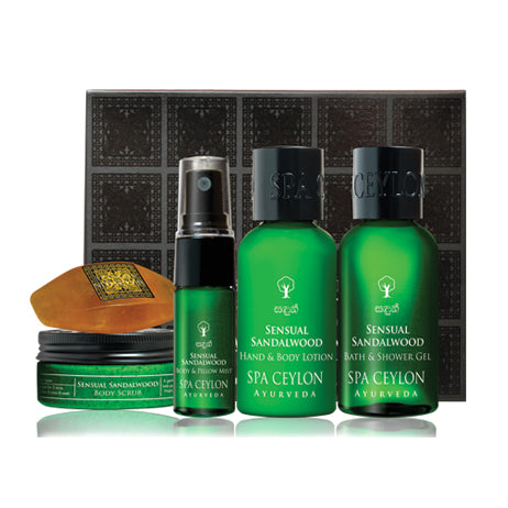Sensual Sandalwood - Bath & Body Care Discovery Set - SPA CEYLON Natural Luxury Ayurveda GIFT SETS
