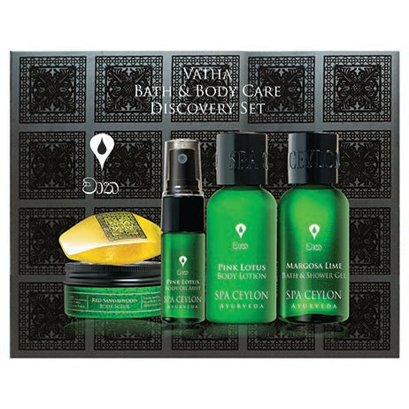 VATHA - Bath & Body Care Discovery Set SPA CEYLON Australia Natural Luxury Ayurveda