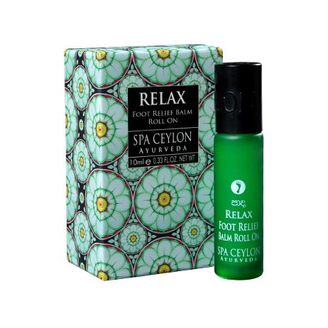 Relax Foot Relief Balm Roll On - SPA CEYLON Natural Luxury Ayurveda BALMS & OILS
