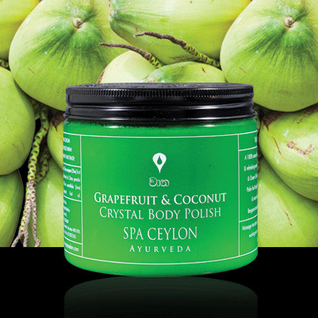 GRAPEFRUIT COCONUT - Crystal Body Polish SPA CEYLON Natural Luxury Ayurveda
