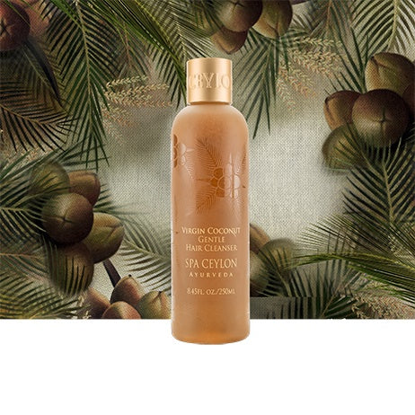Virgin Coconut - Gentle Hair Cleanser - SPA CEYLON Natural Luxury Ayurveda BATH & BODY