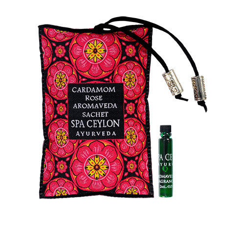 CARDAMOM ROSE Aromaveda SACHET SPA CEYLON Natural Luxury Ayurveda