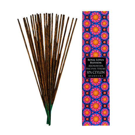 ROYAL LOTUS BLOSSOM AROMAVEDA INCENSE STICKS SPA CEYLON Natural Luxury Ayurveda