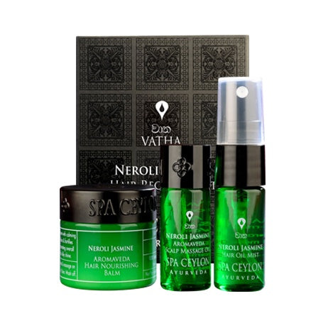 Neroli Jasmine Hair Recovery Set - SPA CEYLON Natural Luxury Ayurveda GIFT SETS