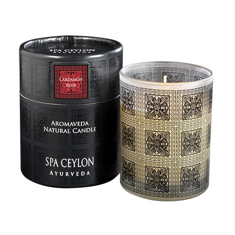 Cardamom Rose - Aromaveda Natural Candle  With Paper Tube, Candles, SPA CEYLON AUSTRALIA