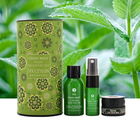 Green Mint Foot Recovery Set - SPA CEYLON Natural Luxury Ayurveda GIFT SETS