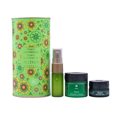 Peace - Lemongrass Travel Recovery Set - SPA CEYLON Natural Luxury Ayurveda GIFT SETS