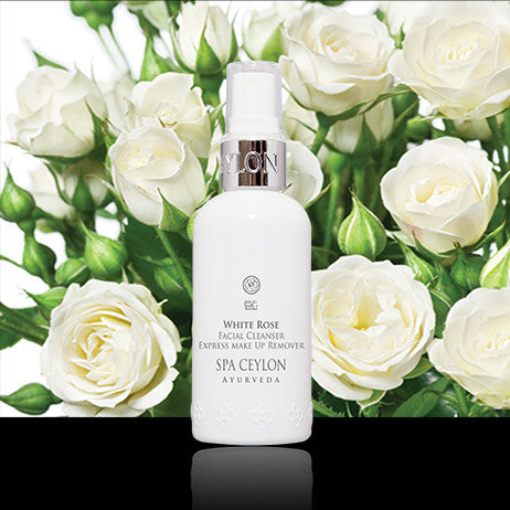 WHITE ROSE Facial Cleanser Express Make Up Remover SPA CEYLON Natural Luxury Ayurveda