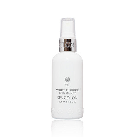 WHITE TUBEROSE Body Oil Mist SPA CEYLON Natural Luxury Ayurveda