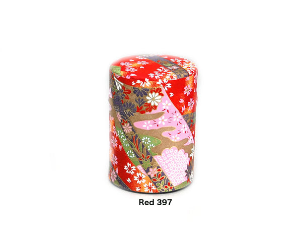 Matcha Caddy Tin with Washi Paper (Size-40)