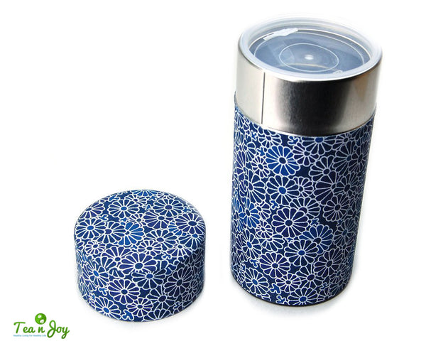 Aizome Green Tea Canister
