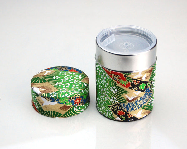 Matcha Ceremony Tea Set (Green Crane)
