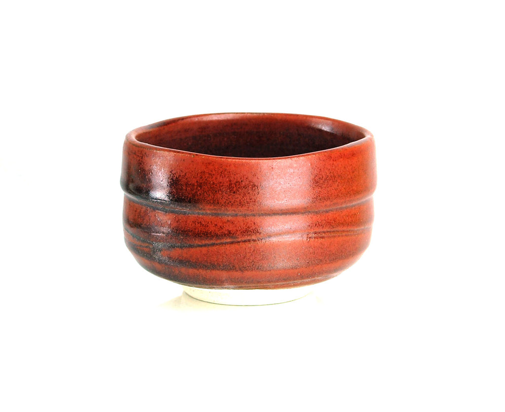 RED RAKU CEREMONY GREEN TEA BOWL