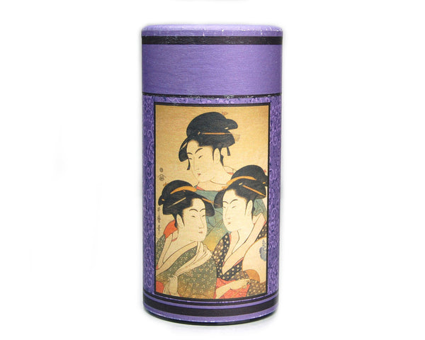 Ukiyoe Folk Story Tea Canister (Edo Beauty)