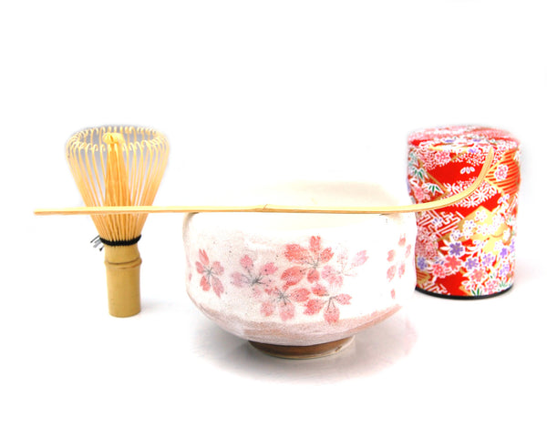 Matcha Ceremony Tea Set (Red Sakura)