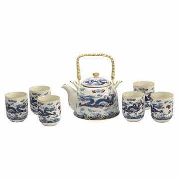 Porcelain Tea Set (Chinese Dragon)