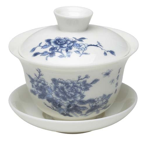 Gaiwan Cup (Classical Blue Peony Flower)