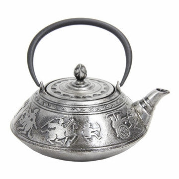 Cast Iron Teapot (Large Silver Warriors)