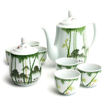 Porcelain Tea Set (Bamboo Scenic)