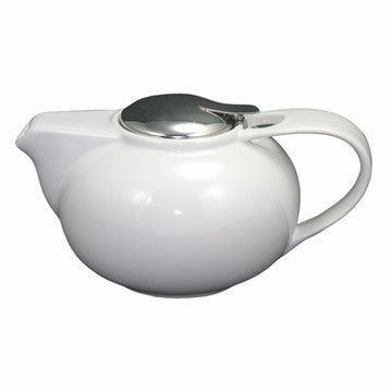 English Teapot (Contemporary White Ceramic)
