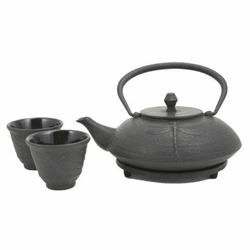 Cast Iron Tea Set (Black Dragonfly)