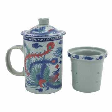 Filtering Tea Mug (Phoenix Dragon)