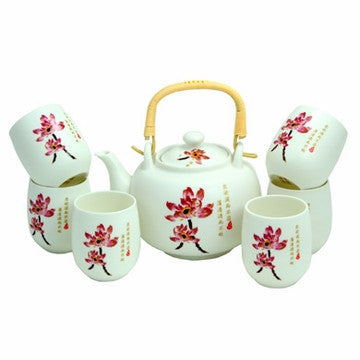 Porcelain Tea Set (Lotus Flower)