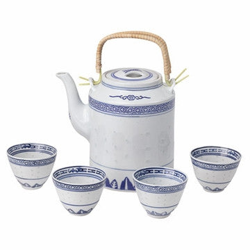 Porcelain Tea Set (Classical White & Blue)