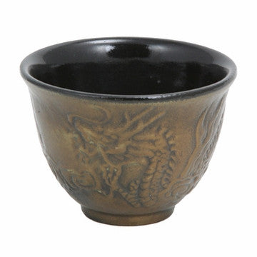 Cast Iron Teacup (Bronze Dragon)