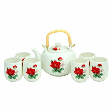 Porcelain Tea Set (Blooming Flower)