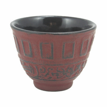 Cast Iron Teacup (Red Classical)