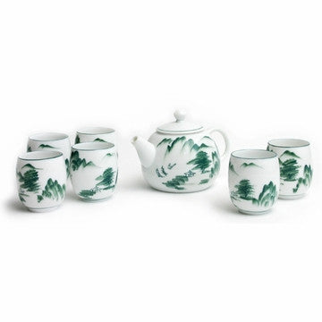 Porcelain Tea Set (Mountain and River)