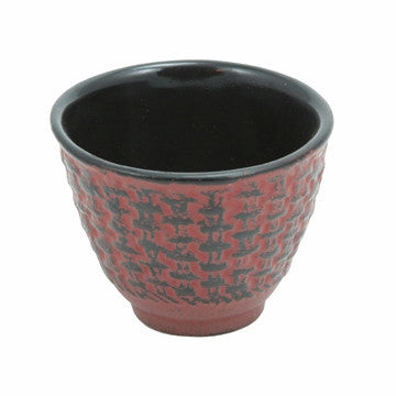 Cast Iron Teacup (Red Traditional)