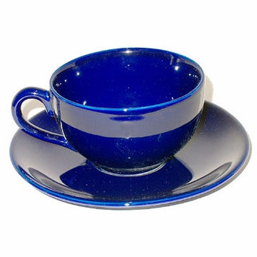 Ceramic Teacup & Saucer (Blue)