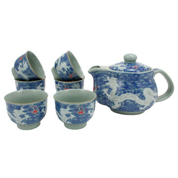 Japanese Style Tea Set (Double Dragon)