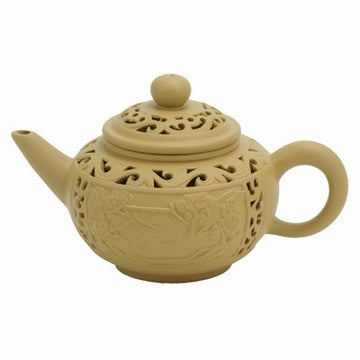 Chinese Teapot (Small Artistic Double Wall Yixing Clay)