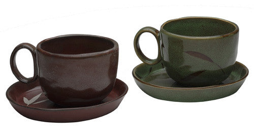 Ceramic Teacup & Saucer Set (Traditional)
