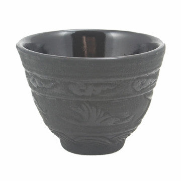 Cast Iron Teacup (Black Crane)