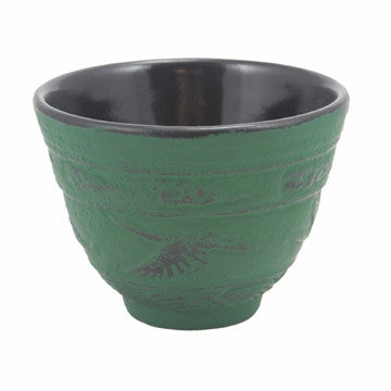 Cast Iron Teacup (Green Crane)