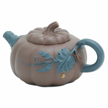 Chinese Teapot (Pumpkin Yixing Clay)