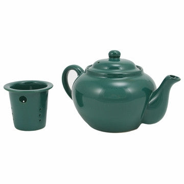 English Teapot (Green Teapot with Infuser)
