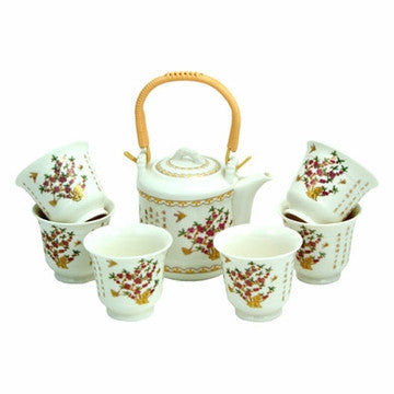 Porcelain Tea Set (Spring Blossoms)