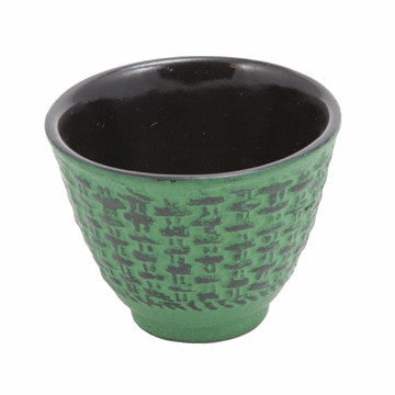 Cast Iron Teacup (Green Traditional)